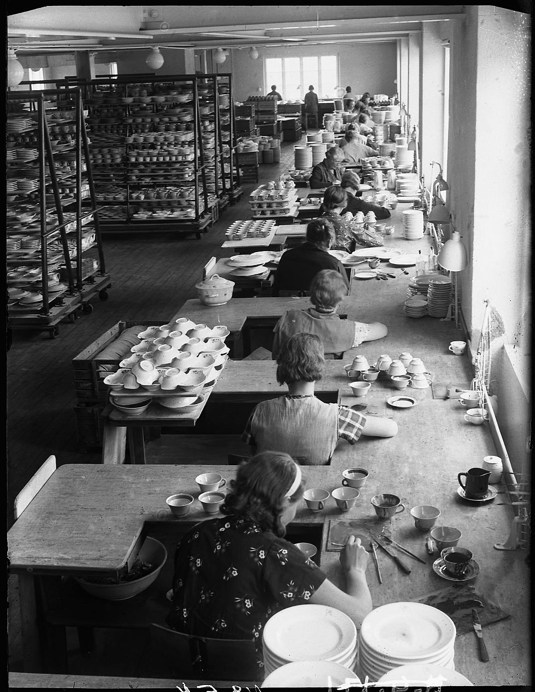 Foto: Victor Malmström nr 54 Gustavsbergs Porslinsfabrik 1935